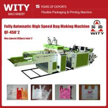 Saco de compras de plástico automático fazendo máquina