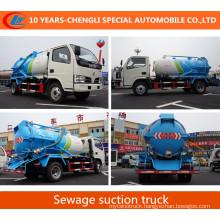 4X2 15cbm Sewage Suction Truck 180HP Vacuum Suction Truck