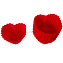 Herzförmige Silikon-Kuchenform (RS40)