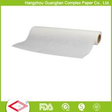 Rolo de papel à prova de graxa branco natural do produto comestível