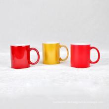 Benutzerdefinierte Logo Keramik Tasse Porzellan farbige Glasur Becher