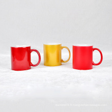 Tasse colorée de glaçure colorée de porcelaine de tasse de logo fait sur commande