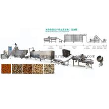 Linha de produção de alimentos para animais de estimação linha de produção de alimentos mastigar