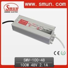 Smun 100W 48V conductor impermeable al aire libre del LED para la tira del LED