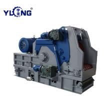Máquina de processamento de lascas de madeira de álamo