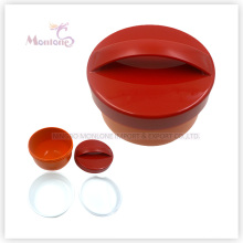 Wholesale Round Bento Plastic Lunch Box with Handle (500ml)