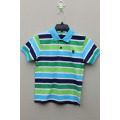 Boy's 100% Cotton Knitted Yarn Dyed Polo with Logo Embroidery