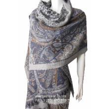 Echarpe 100% Wool Shwl Paisly Print