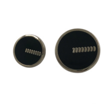 Accesorio de vestir personalizado Epoxy 20 mm botón de mango de metal redondo