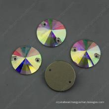 Ab Sew on Crystal Stones Round Shape (DZ-3041)