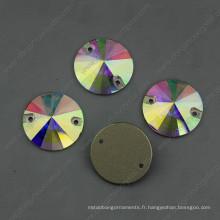 Ab coudre sur la forme ronde de Crystal Stones (DZ-3041)