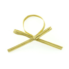 Gold flap metal elastic bow cheap supply