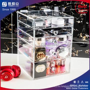 Caja de la exhibición del organizador cosmético del maquillaje del OEM