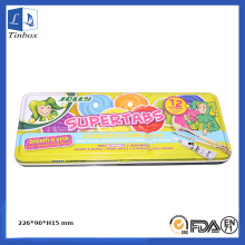 Two-Pieces Gouache Pencil Tin Case