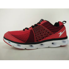 Fashion Red Flyknit Men′s Casual Sports Shoes Footwear
