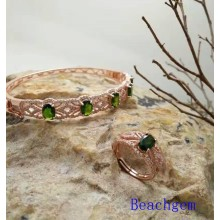 Jewelry Set-Natural Tourmaline in Sterling Silver (S3332)