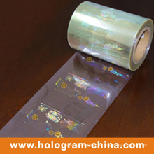 Rolle Transpartnt Heißprägung Hologramm Overlay