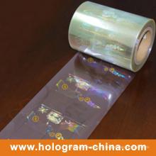 Прозрачный лазерный 3D безопасности голограмма горячего тиснения