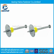 Clavos mecánicos de DN galvanizado con arandela de acero y flauta