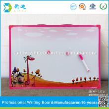 Rosa Rahmen magnetischen Whiteboard-Stick auf Kühlschrank für Kinder