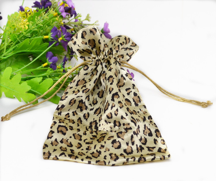Leopard Print Satin Bag
