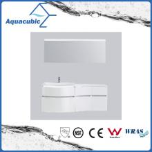 White Painting PVC Bathroom Vanity with Mirror (ACF8925)