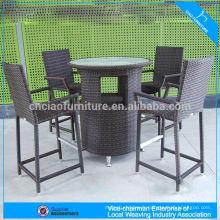 F- FT018 + FC044 bas prix ergonomique détendre ensemble de barre de meubles en rotin intérieur