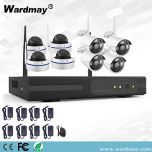 Kits de NVR de seguridad inalámbrica 8CH 1.0 / 2.0MP Wifi
