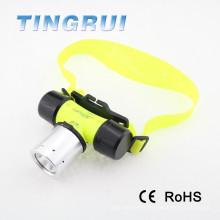 Imperméable à l'eau professionnelle T6 rechargeable imperméable à l'eau torche de plongée conduit