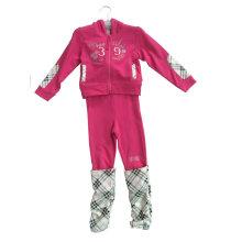 Traje de Terry francés de la muchacha de la moda en el desgaste del deporte de la ropa de los niños (SWG-116)