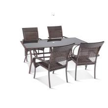 Outdoor Rattan Restaurants Export PE Runde Möbel