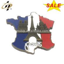 En gros personnaliser Paris émail métal frigo aimants broches