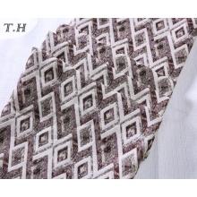 Patrón colorido del diamante 100% tela del sofá del telar jacquar del poliester