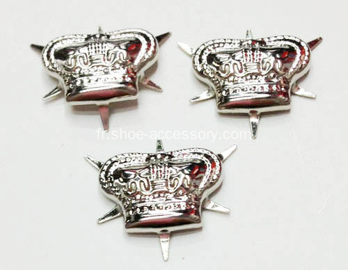 Silver Crown Nailheads 6 broches