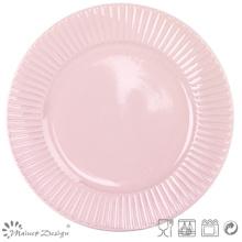 "10.5""Embossed Ceramic Dinner Plate Wholesale"