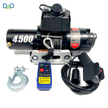 atv electric winch 4500lbs with steel cable