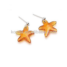 Wholesale Alibaba star shape topaz original crystal earrings