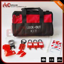 Elecpopular China High Performance Red Black Portable Bag Type Valve Lockout Tagout Kit