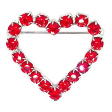 wholesale hot sale red fashion heart bride letter crystal brooch women