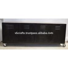vintage industrial metal wooden sideboard