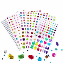 Etiqueta de cristal de cristal impermeável do cristal de rocha da decoração do telefone móvel Eco-impermeável