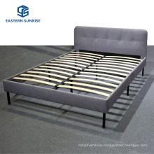 Simple Design Room Furniture Cheap Hotel Fabric PU Bed