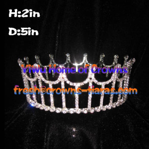 Cheaper Full Round Crystal Pageant Crowns