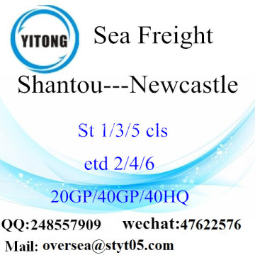Shantou Port Sea Freight Shipping ke Newcastle