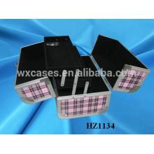 casos com bandejas dentro de China fabricante de sacos de cosmético de alumínio profissional