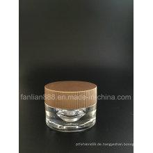 Acryl Oval Creme Gläser für kosmetische Verpackungen