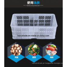 Cesta plástica personalizada do armazenamento, cesta vegetal plástica, cesta plástica dos peixes