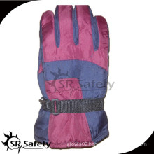 SRSAFETY red water-proof cloth sports coloful winter gloves
