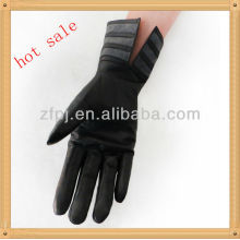 Frauen Zebra-Streifen Leder Handschuh