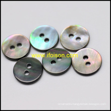 Black Mother of Pearl Shell Button with 2-Hole
